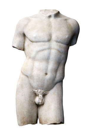 male marmoreal torso of italian renaissance period Stock Photo
