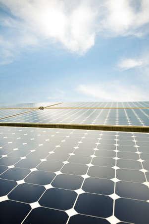 solar panels against the sky Stock Photo - 3716602