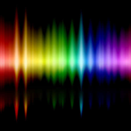 detected: gamut of viewable colours frequencies