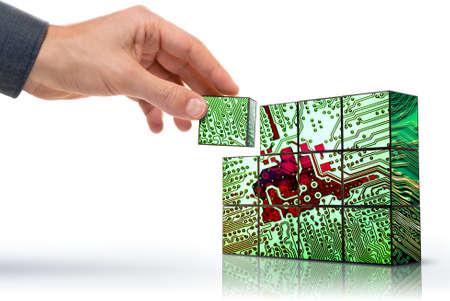 sistemas: lado la creaci�n de un circuito electr�nico conceptualizado