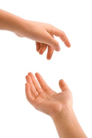 Aktionen der jungen Hand isoliert über weißem Hintergrund Standard-Bild - 4838689