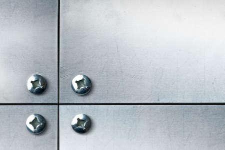 tornillos: placa met�lica con tornillos
