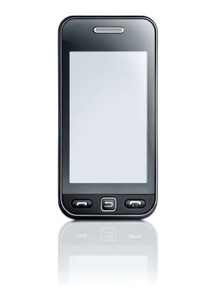 touchscreen mobile phone with customizable display