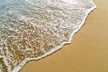 foamy wave gliding towards the golden beach Reklamní fotografie