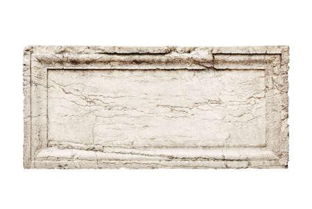 alte Stein Abschirmplatte mit geschnitzten frame Lizenzfreie Bilder
