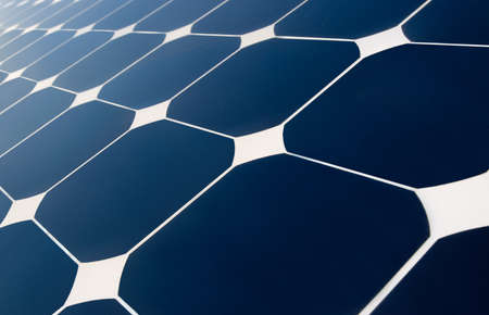 solar panels geometry Stock Photo