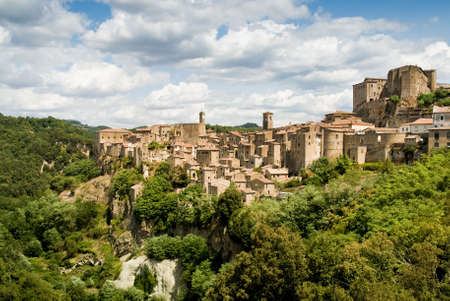 Sorano, Italy, typical village of the tuscan land