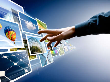 hand reaching images streaming from the deep Stock Photo - 6960014