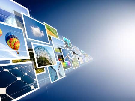 Perspektive der Bilder, die aus der Tiefe streaming Lizenzfreie Bilder