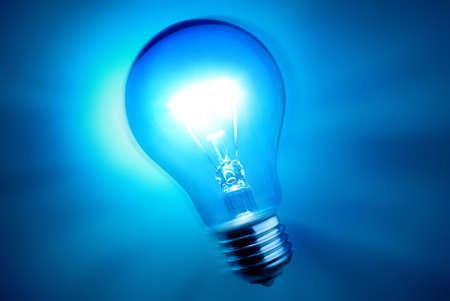 alight: alight bulb over blue background