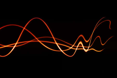 audio wave: colorful waves with fading distortion