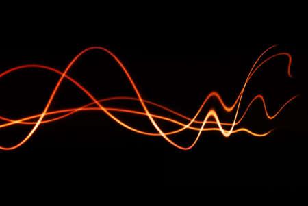 geluid: kleurrijke golven met langzaam verdwijnende vervorming