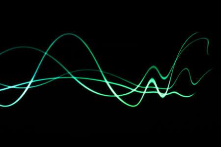 vagues colorées avec distorsion fading