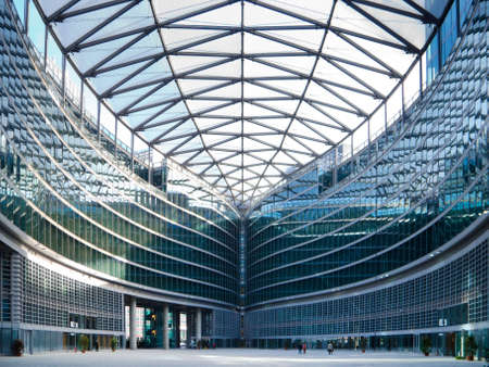 view of the head quarter of regione lombardia in italy Editorial