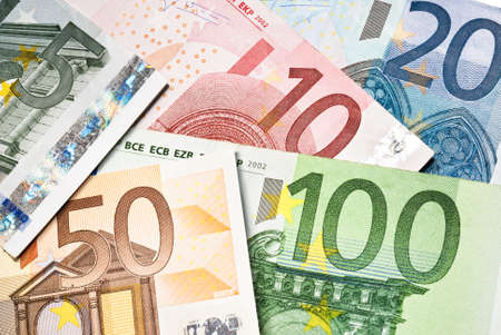scattered euro money banknotes closeup Stock Photo - 13718088
