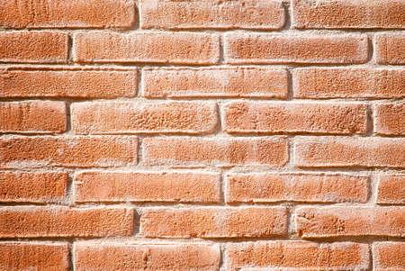 paredes de ladrillos: rústicos ladrillos de color rojo la pared de fondo Foto de archivo