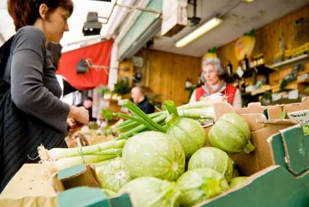 haggling: buying and selling vegetables at the market