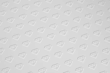 Diamonds texture on grayscale background 3D illustration. 版權商用圖片