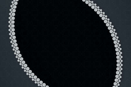 Jewellery curling diamonds on dark background pattern. 3D rendering 版權商用圖片