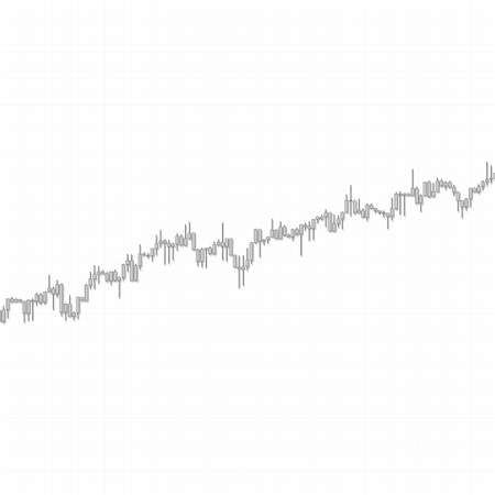Market chart uptrend with checkered texture on white background. 3D illustration