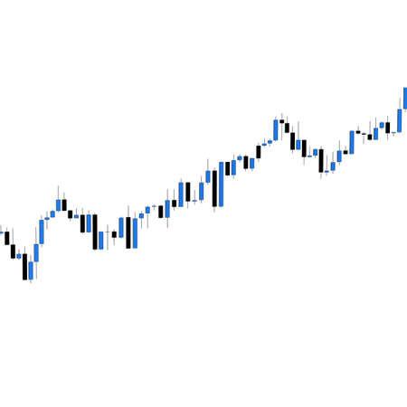 Market chart 3D illustration on white background