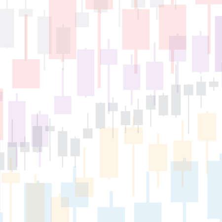 Market chart background on white. 3D illustration for option, forex, exchange presentation Reklamní fotografie
