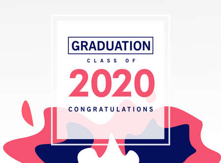 Graduation class of 2020 congratulation background, banner for website or print  イラスト・ベクター素材
