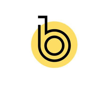 BO Logo Design with circle yellow background