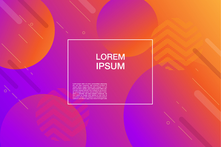Colorful geometric background for web page. Simple shapes composition. Eps10 vector.