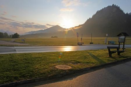 schwangau: Landscape of Bavarian Alps in Germany,