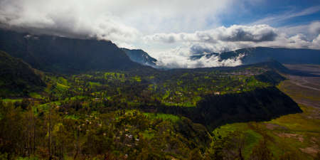 Early morning landscape of crater Bromo, Java island, Indonesia