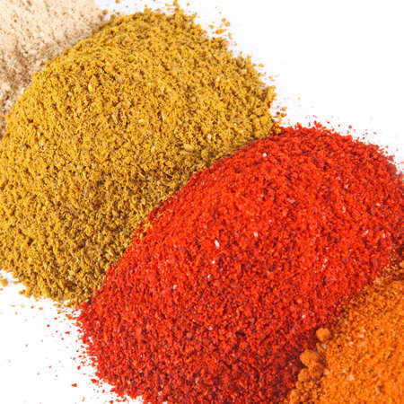 Spice mix on the white background Stock fotó