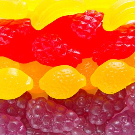 fruit gummy candies background