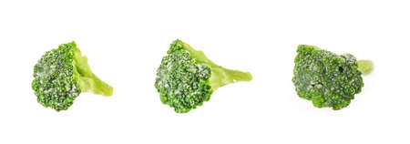 Fresh green brocolli isolation on the white background