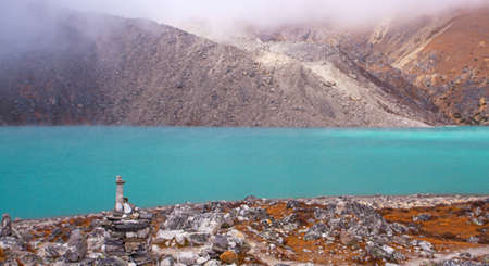 Landscape with Gokyo lake with amazing blue water, Nepal