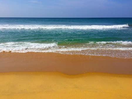 Beautiful Arabian sea on the Kerala seaside, Varkala beach, India Reklamní fotografie