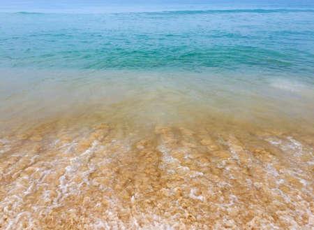 Beautiful light color Arabian sea water with waves, taken in Varkala, Kerala, India Reklamní fotografie