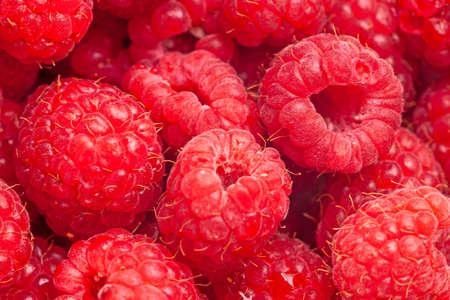 Bright fresh vitaminous raspberry closeup backround