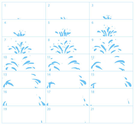 Vector Water Splash Sequence Animation