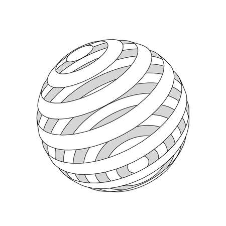 Background abstract. Lines sphere cut rings. Vector illustration Ilustração