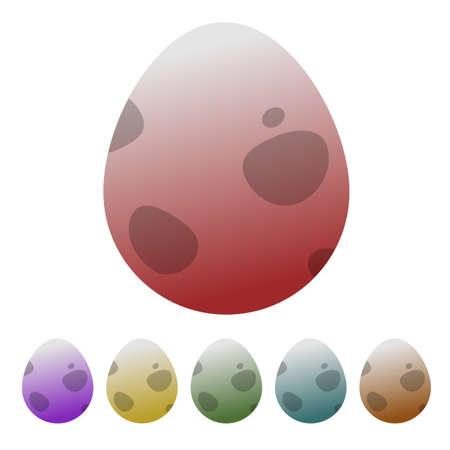 obtain: Egg dinosaur icon colorful vector illustration different