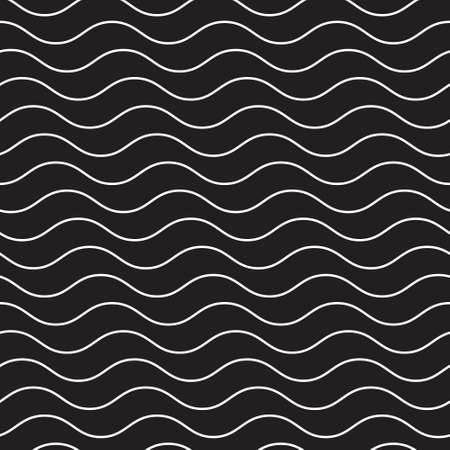 Wave sea abstract background lines vector illustration Çizim