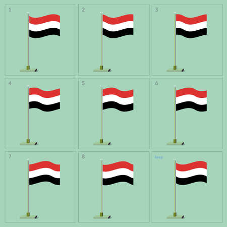 holiday movies: Waving flag on pole animation sequence sprite sheet