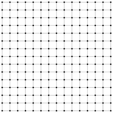 Lines and dots. Blockchain. Plexus style