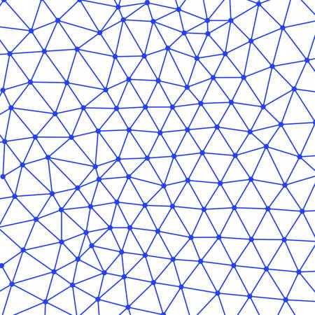Lines and dots. Blockchain. Plexus style Banco de Imagens - 91320435