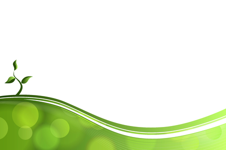 smooth curve design: Abstract background green lines eco sprout vector
