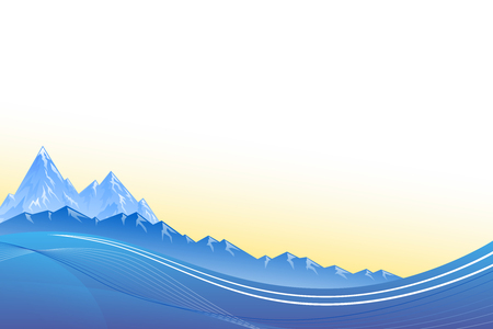 mountain sunset: Abstract background landscapes mountains blue sunset vector