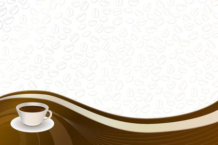 Achtergrond koffie bruin beige kop vector