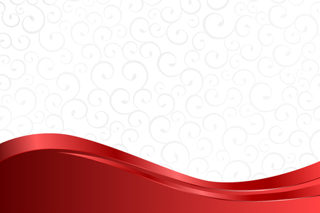 red wave: Background pattern white grey with red lines vector Illustration