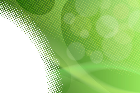 Abstract background gradient green lines circles vector